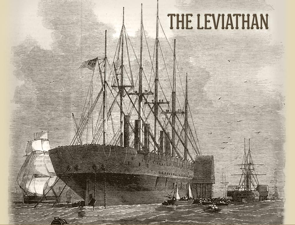 Civil war steamship the Great Eastern at sea