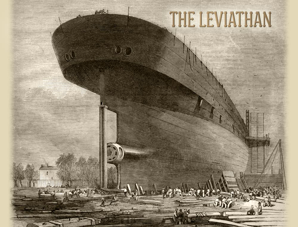 The Leviathan steamship also known as the Great Eastern