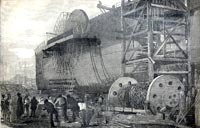 """The launch of the Great Eastern"""