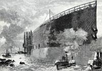 Undated picture of the launching of the Great Eastern