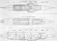 """Plans showing the upper deck, passenger accommodations, and arrangement of machinery of the Great Eastern"""